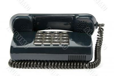 Telephone set of black color