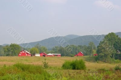 Red Barns in the Distance