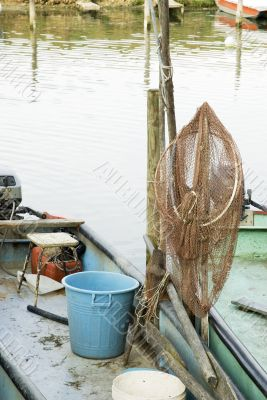 fishing-net in the boat