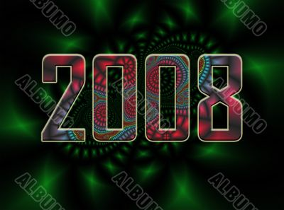 fractal background - 2008 new years eve 2