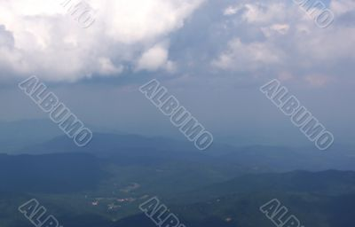 Hazy Blue Ridge Mountain Scene