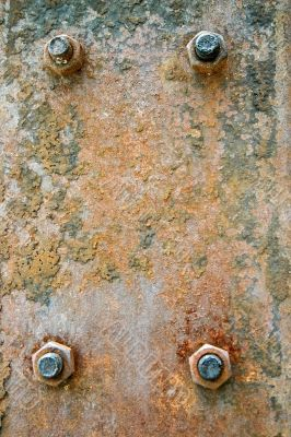 Rusted Steel Plate with Bolts