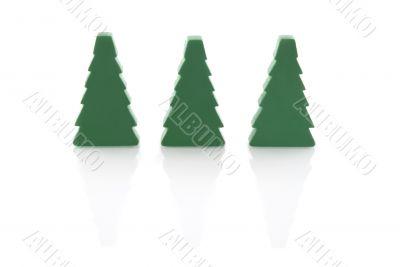 three simple christmas trees