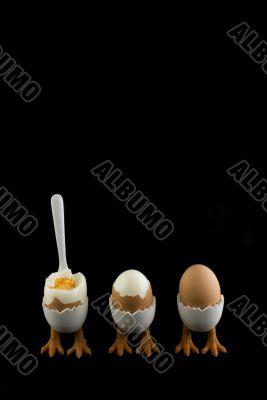 three eggs in a row