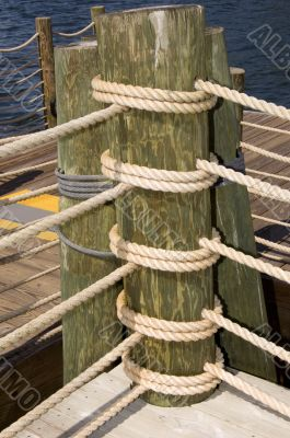 Ropes Wrapped Around Pole