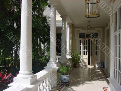 Colonial House Balcony