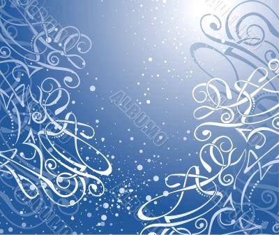 vector swirl background / christmas