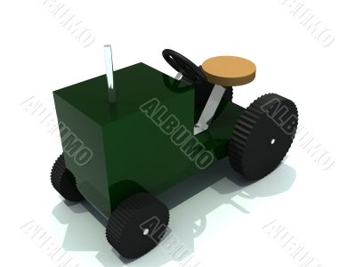 toy tractor from green plastic