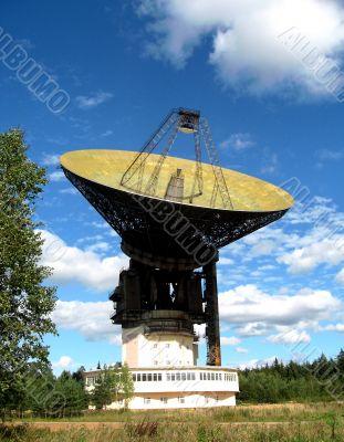 A large satellite dish