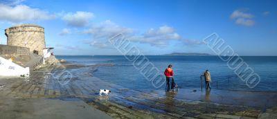 Beach Scene Panorama