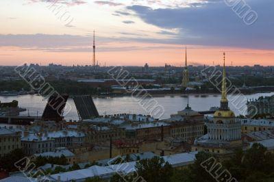 Dawn above Saint-Petersburg