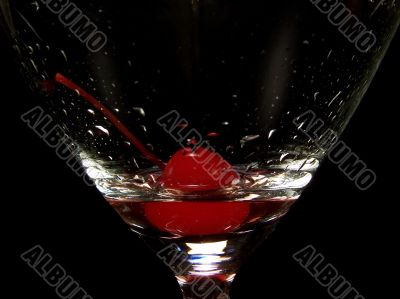 Close Up of a Mixed Drink Glass