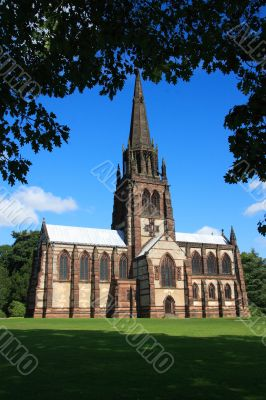 Gothic revival chapel at Clumber Park