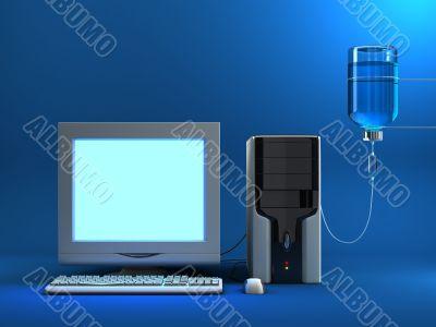 Sick Computer - Lit Screen