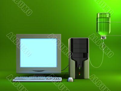 Serum Computer - Lit Screen
