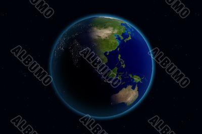 Earth - Day & Night - Asia