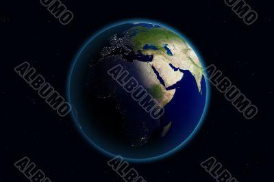 Earth - Day & Night - Europe
