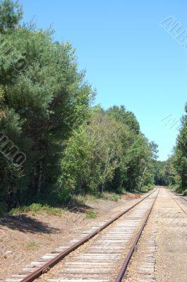railway with blue sky