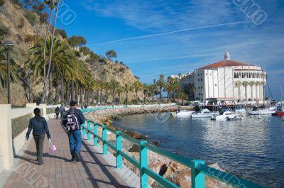 Couple travelling Catalina Island