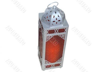 Red Lantern over White