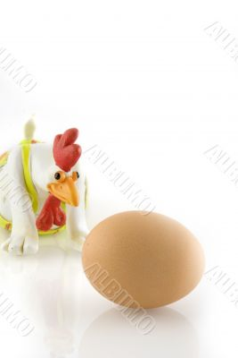 funny chicken with amazing egg