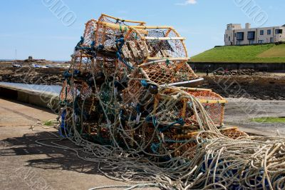 Lobster pots at Seahouses