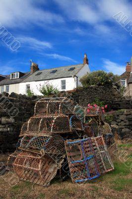 Lobster pots at Craster