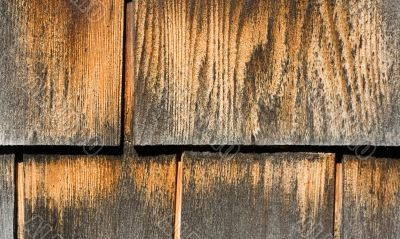 Weathered Brown and Gray Wood Shingles