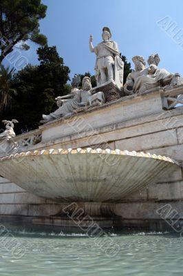 fountain at piazza del popolo