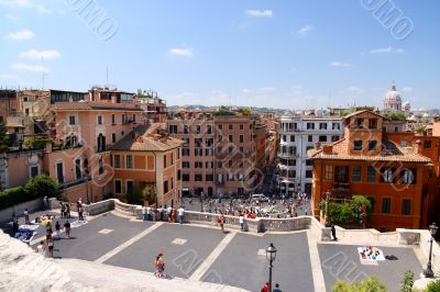 the spanish steps from above