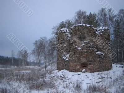 Fortress tower ruins
