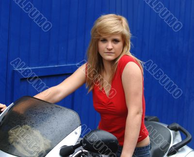 Teenage Motorbike Chick