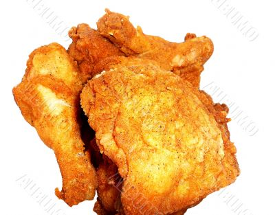 Delicious Fried Chicken On White Background
