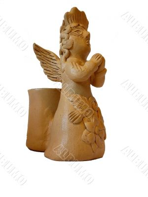 Mexican Angel Candle Holder