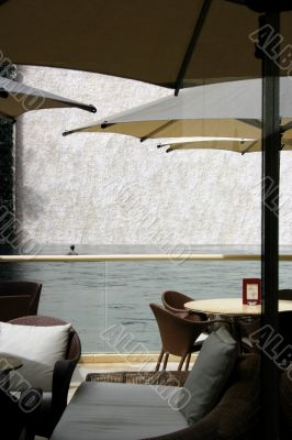 Elegant Tropical Outdoor Cafe