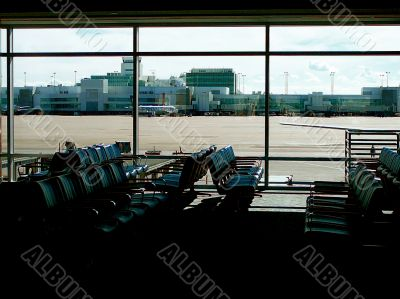 Empty Waiting Area At Airport