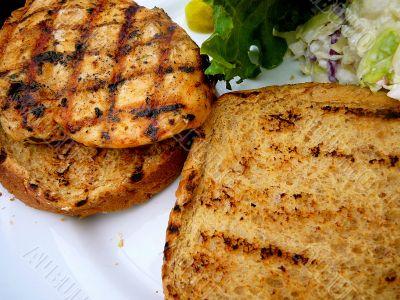 Fresh Grilled Chicken Sandwich On Whole Wheat Bun