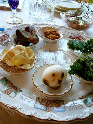 Traditional Passover Seder Plate