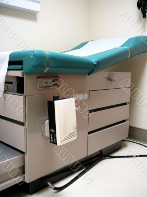 Examination Table in Hospital