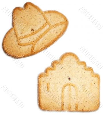 Sugar Cookies In Symbols Of Texas