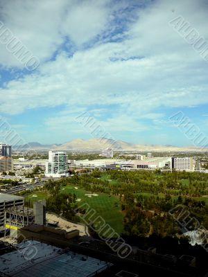 Aerial View of Rapidly Growing Las Vegas Skyline