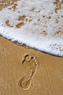 dying footprint
