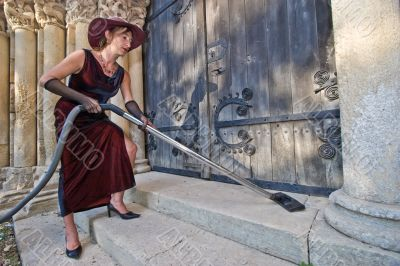 religious cleaner woman
