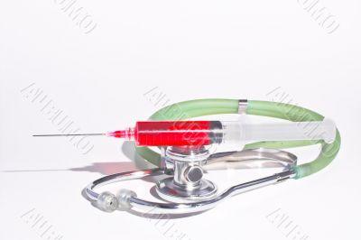 Stethoscope & Syringe