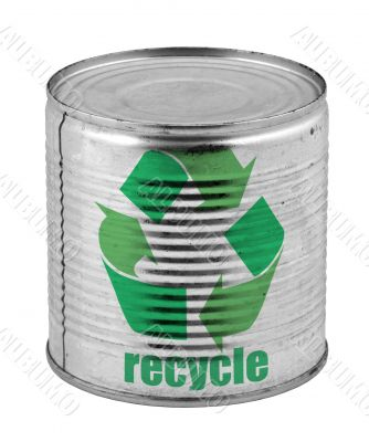can with recycle symbol