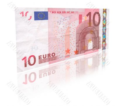 10 Euro with reflection