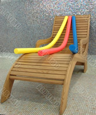 relax chair with aqua noodles