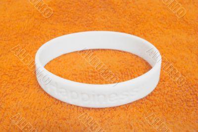 White silicone wristband