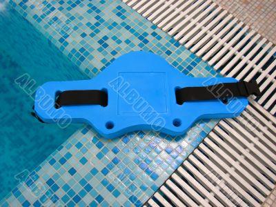 Blue belt for aqua aerobics