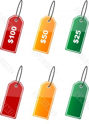 Various color labels